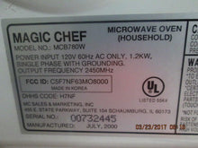MAGIC CHEF MICROWAVE MCB780W