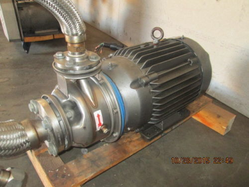 20 H.P. G & L STAINLESS CENTRIFUGAL PUMP MODEL SST 1 X 2 - 10 GOULDS / XYLEM