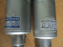 LOT OF 2 PATLITE Model SL-V & SL SIGNAL TOWERS 12V AC/DC_LOOK NICE_GREAT DEAL_$!