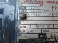 Sterling Type WMFF Variable Speed Gear Motor & Lube Free Transmission_Unique!
