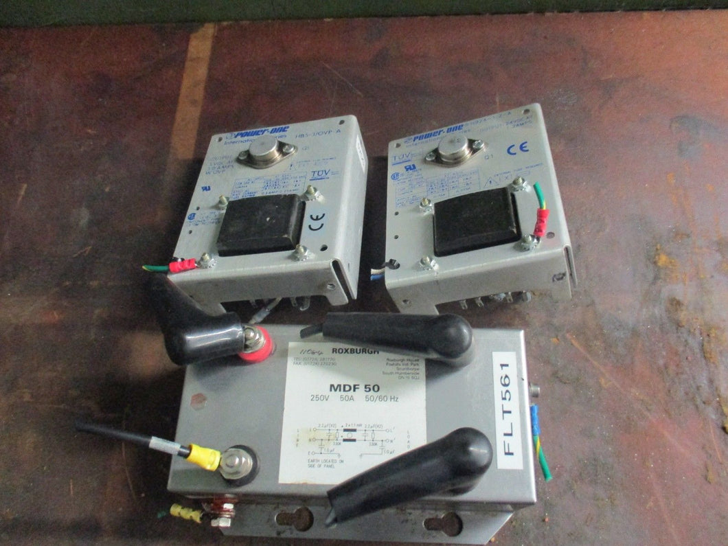 LOT OF POWER SUPPLIES: Roxburgh MDF 50 (1 PC) AND Power One HB24--1.2-A (2 PSC)