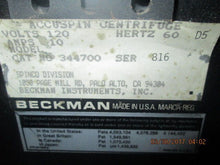 NICE Centrifuge, Benchtop Model, Beckman Model Accuspin 344700
