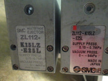 Lot of 2 SMC ZL112-K15LZ-E25L Multistage Ejectors AWESOME STUFF HERE!