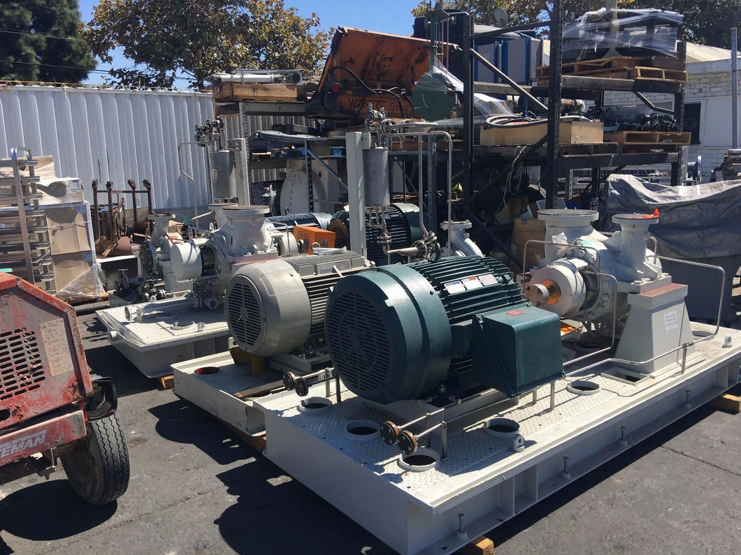 FLOWSERVE CENTRIFUGAL PUMP MODEL # 4HPX13A 1140 GPM WITH 200 HP MOTOR