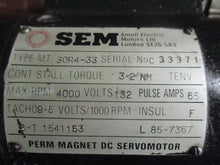 SEM MT30R4-33 PERMANENT MAGNET DC SERVOMOTOR_GREAT VALUE ITEM_FCFS_$$$!