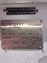 FLOWSERVE CENTRIFUGAL PUMP MODEL 4HPX13A 952 GPM WITH 200 HP MOTOR