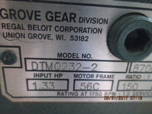 GROVE GEAR FLEXALINE FRAME DTMQ232-2 1.33HP GEAR REDUCER AS-IS_COME IN! FCFS!