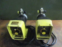 LOT OF LMI MILTON ROY ELECTROMAGNETIC DOSING PUMP 7B42 POWERS & WORKS AS-IS_$$$!