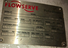 350 HP -Flowserve API PROCESS PUMP 6HPX23A OIL, GAS HYDROCARBON processing Pump
