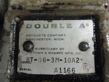 DOUBLE A BT-06-3M-10A2 HYDRAULIC VALVE_UNIQUE_GREAT DEAL_LOOKS NICE_COME IN_$$$!