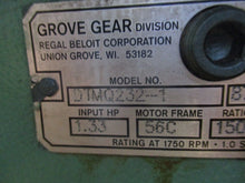 GROVE GEAR FLEXALINE DTMQ232-1 WORM GEAR SPEED REDUCER w/HILL HOUSE MOTOR_NICE!