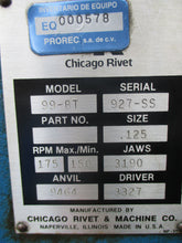 CHICAGO RIVET MODEL 99-BT RIVETER_BLUE_BEST DEAL_$!_POWERS UP_MOTOR TURNS!_FCFS_
