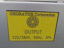 GEORATOR 75 KVA HERTZ/VOLTAGE CONVERTER FOR 480 V 60 CYCLE TO 380/220 50 CYCLE
