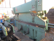 VERY NICE HJO (SWEDEN) 10 FOOT 60 TON MECHANICAL PRESS BRAKE W/ MOTORIZED RAM