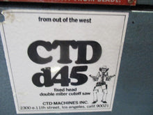 CTD Model D45 Fixed Head Double Miter Cutoff Saw 45 Degree Trim & Chop Saw
