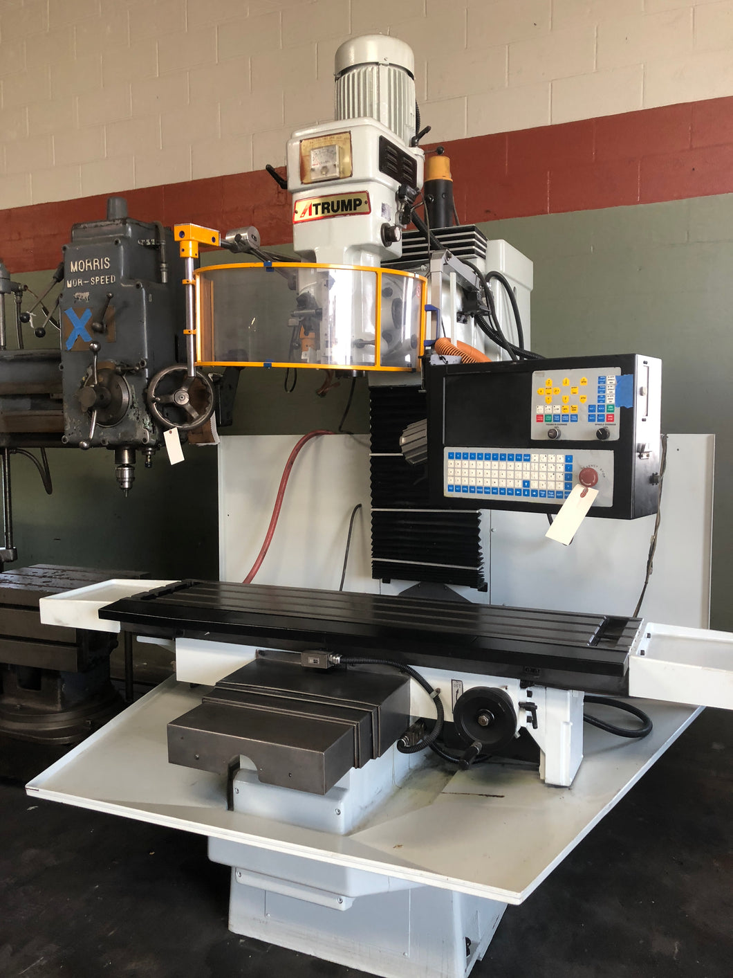 NICE ATRUMP 3-AXIS CNC BED MILL / WITH CENTROID M400 CONTROL /220VOLTS/ 3PH/4HP