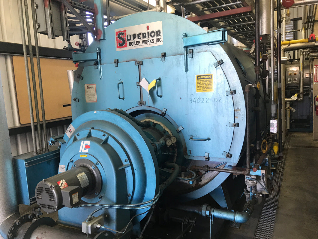 2001 SUPERIOR STEAM BOILER M#6-X-750 STEAM CAPACITY 5175LBS/ATLANTIC ...