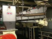 MAC AIRLOCK ROTARY FEEDER M#D620 W/ SEPARATOR, HOPPER & MAGNETIC FEEDER SYSTEM