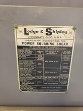 3/16″ x 14′ LODGE & SHIPLEY MODEL 0314-SL POWER SQUARING SHEAR/ 10' 1/4 CAPACITY