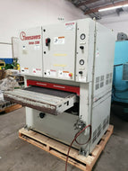 "37"" TIMESAVER SERIES 2200 SANDER / FINISHING MACHINE 2 HEAD (1) BELT (1) DEBURR"