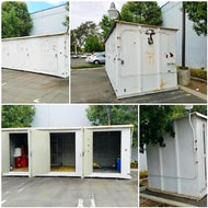 HAZMAT 22' LONG / 3 SEPARATE COMPARTMENTS BAYS / CONTAINER /HAZARDOUS MATERIALS STORAGE