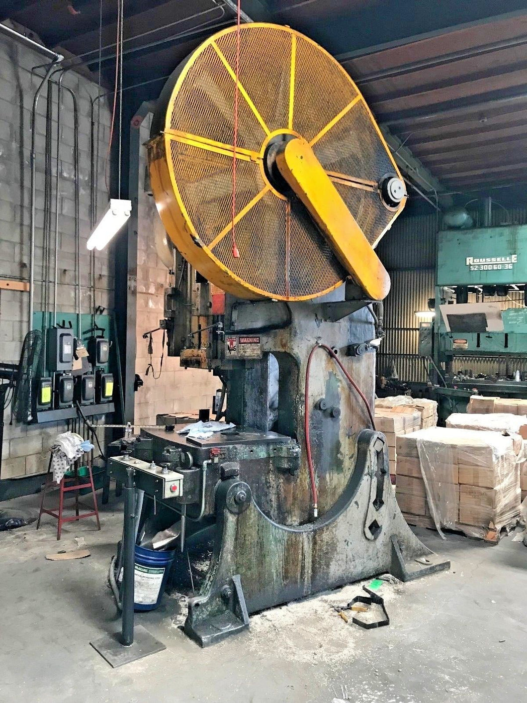 BLISS 95 TON OBI PUNCH PRESS W/ AIR CLUTCH 6 INCH STROKE