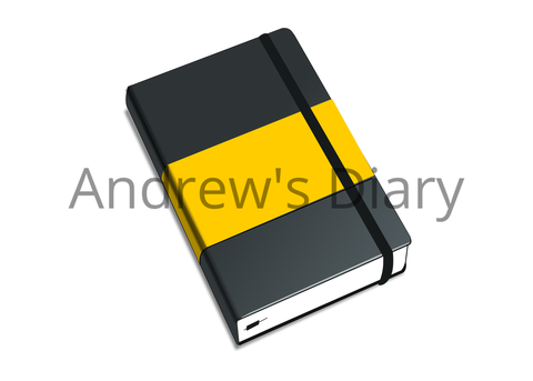 Yellow and Black Diary