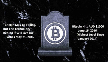 """Bitcoin Is Dead: Long Live Bitcoin"" - So Why Bitcoin Has Hit $1,000 AUD Today?"