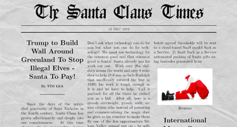 Christmas Under Threat As Trump Threatens To Build Wall Around Greenland To Stop illegal Elves. Santa To Pay For It! The Tech Community Saves The Day!
