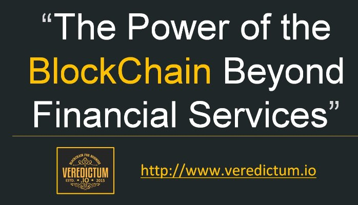 Blockchain Beyond Financial Services