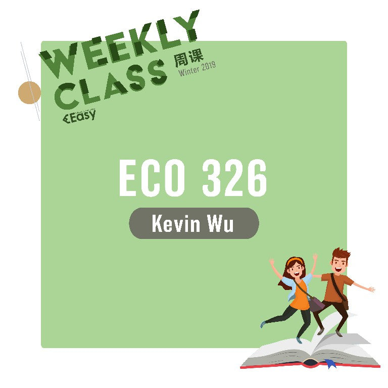 2019 SPRN ECO326H1S WEEKLY COURSE