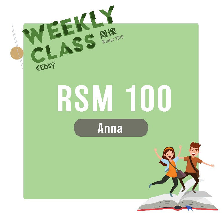 2019 SPRN RSM100H1S WEEKLY COURSE