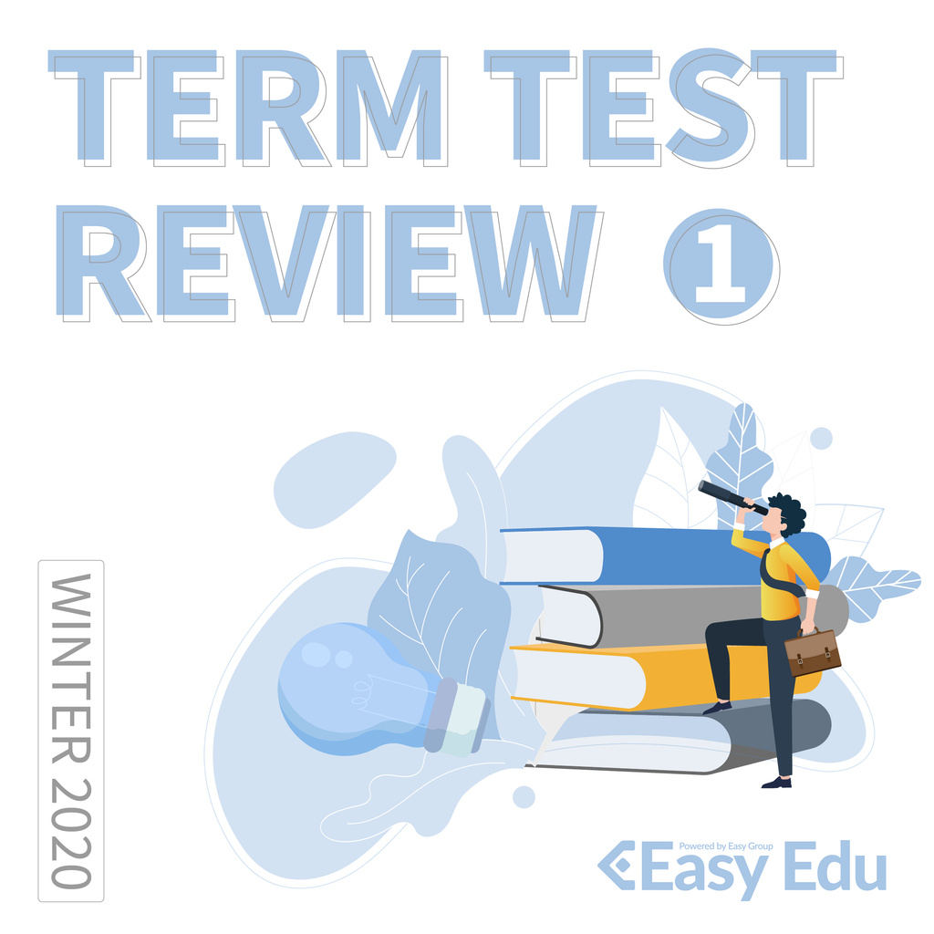 [2870] 2020 SPRN EAS105H1S MIDTERM REVIEW