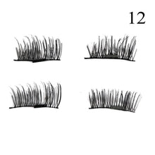 1 Pair 3D Magnet False Eyelash - 12 - Headwear
