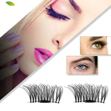 1 Pair 3D Magnet False Eyelash - Headwear