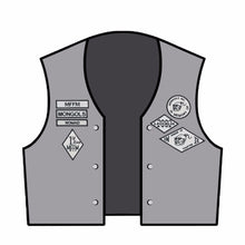 13PCS/ A SET MONGOLS NOMAD MC Biker Vest Embroidered Patch 1% MFFM IN Memory Iron On Full Back of Jacket Motorcyle Patch