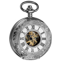 Akribos XXIV Men's Antique Mechanical Skeleton Chain Pocket Watch - Free Shipping Today - Overstock.com - 15443259