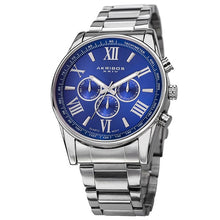 Akribos XXIV Men's Multifunction Tachymeter Stainless Steel Bracelet Watch - Free Shipping Today - Overstock.com - 16623054