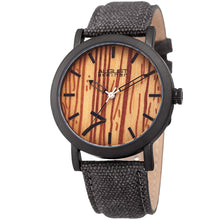 August Steiner Men's Classic Easy-to-Read Wood Dial Grey Leather Strap Watch - Free Shipping Today - Overstock.com - 20855879