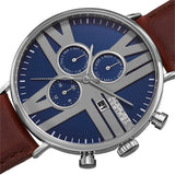 August Steiner Men's Swiss Quartz Multifunction Leather Silver-Tone Strap Watch - Free Shipping Today - Overstock.com - 19061484