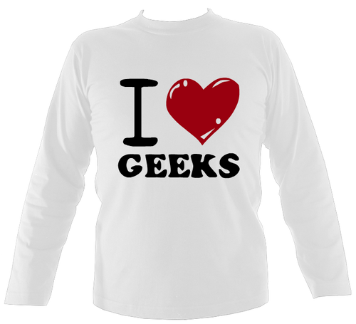 only 100 I Love Geek Shirts
