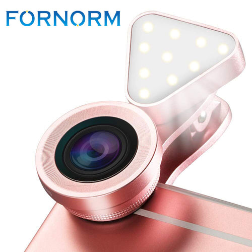 3 In 1 Lens 140 Degree Wide Angle 15X Macro Clip On Cell Phone Camera Lenses Kit for iPhone Samsung  Android Huawei Xiaomi
