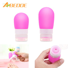 2Pcs Set Travel Refillable Bottles Silicone Skin Care Lotion Shampoo Squeeze Bottle 60ml