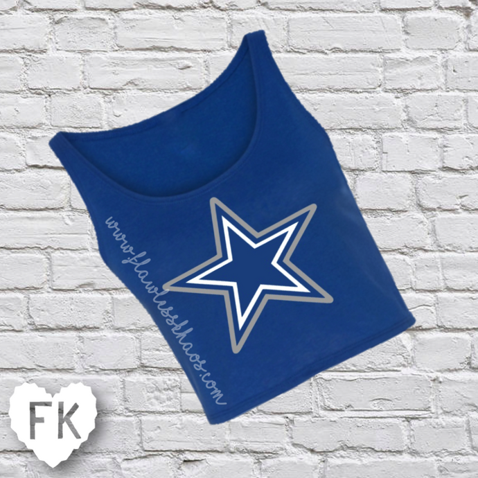 Dallas Star Krop Top