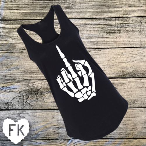 Skeleton Finger Women's Tank
