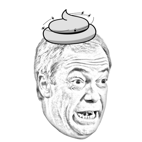 "Nigel ""Poop-Barrage"" Farage 