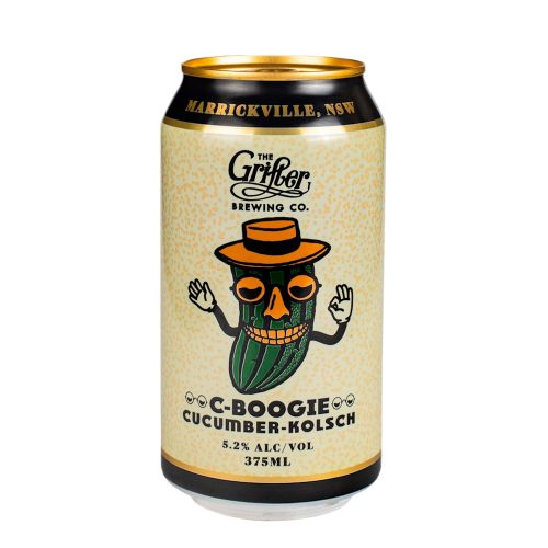 Load image into Gallery viewer, C-BOOGIE CUCUMBER KOLSCH 375ML CANS (CASE OF 24)