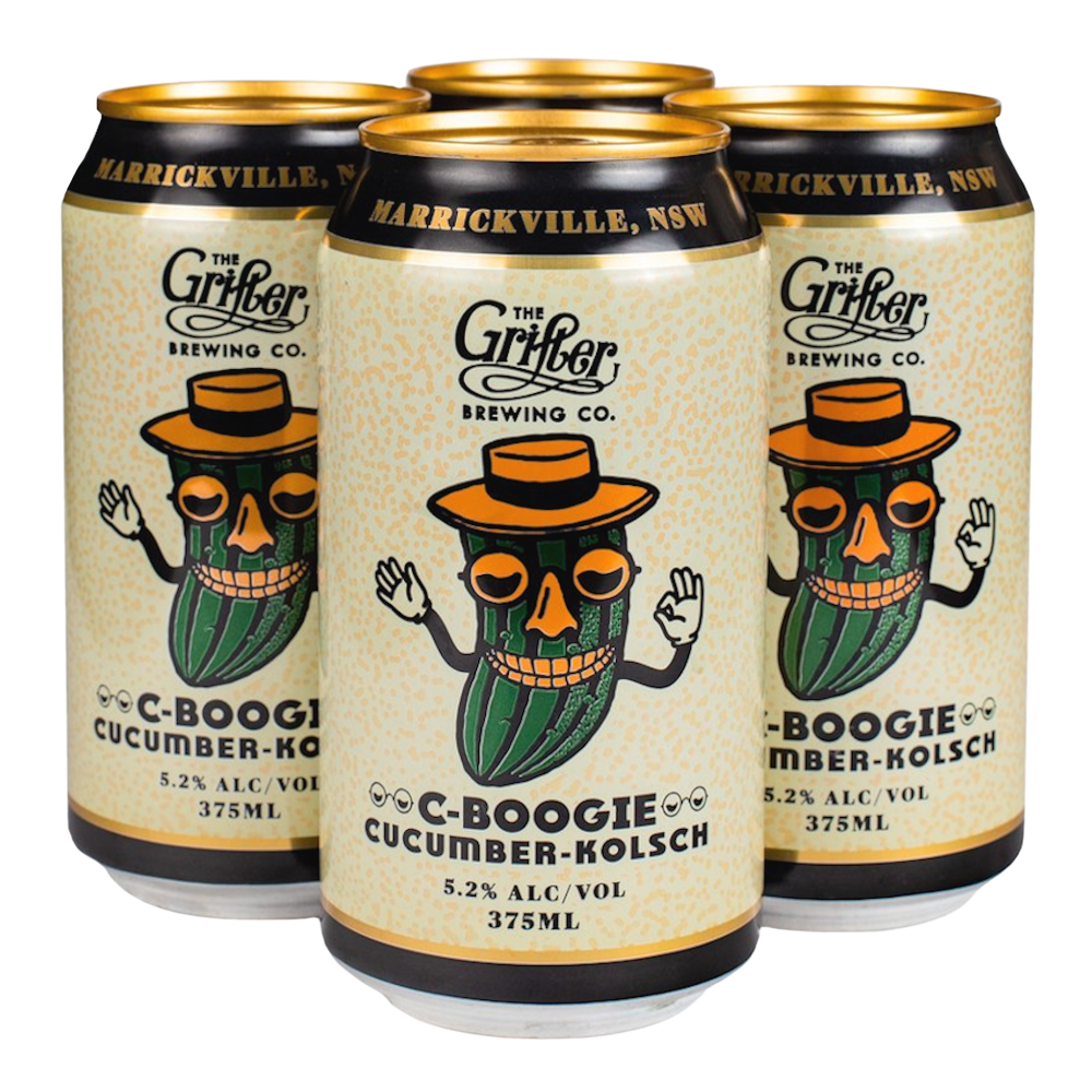 Load image into Gallery viewer, C-BOOGIE CUCUMBER KOLSCH 375ML CANS (4 PACK)