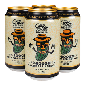 C-BOOGIE CUCUMBER KOLSCH 375ML CANS (4 PACK)