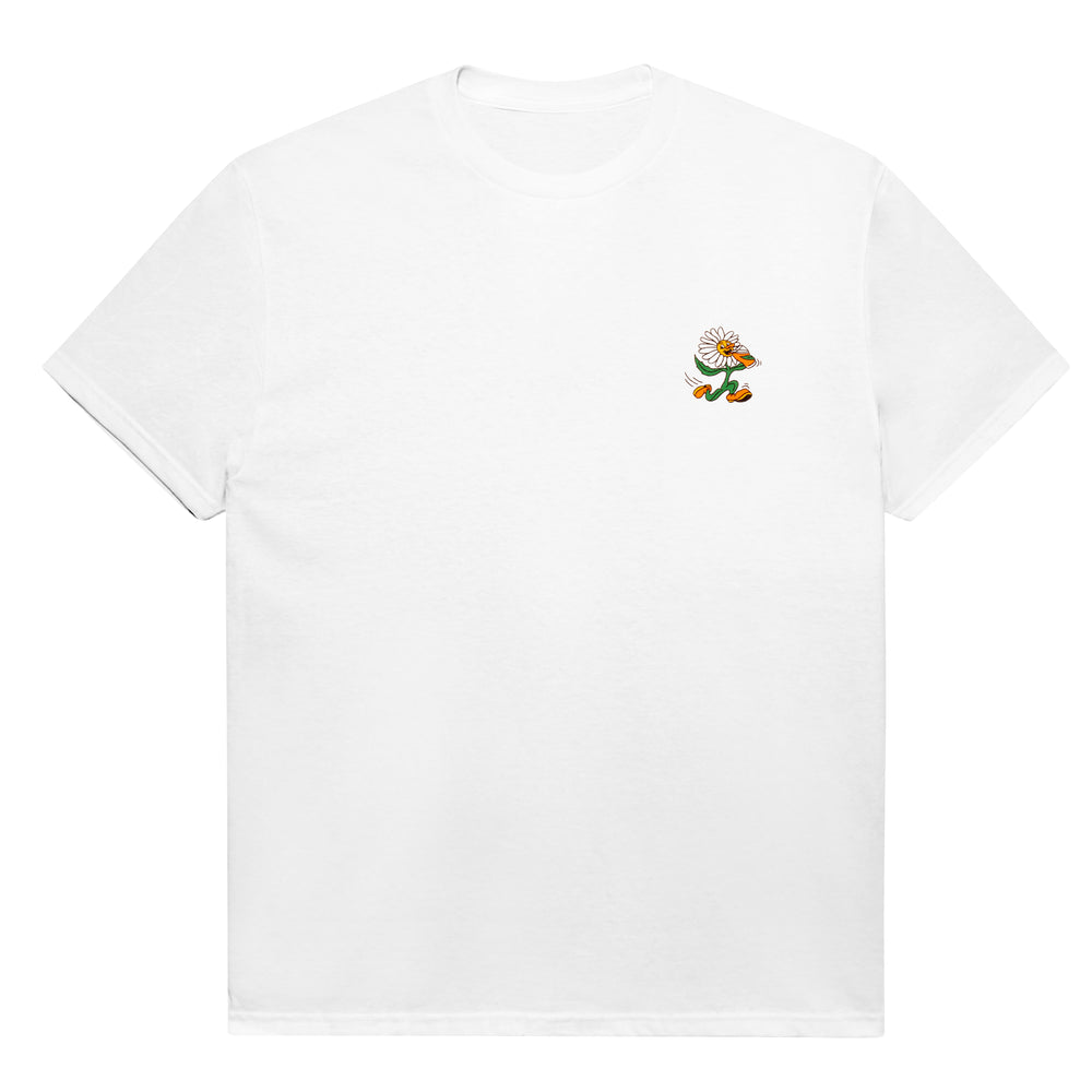 'FRESH AS A DAISY' TEE- WHITE
